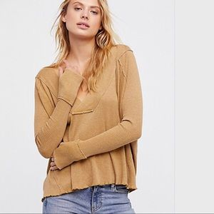 FREE PEOPLE- We the Free-Oceanview thermal Top NWT